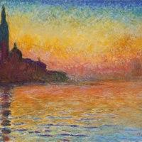 Claude Monet, Saint-Georges Majeur au crépuscule, 1908-1912, huile sur toile, 65,2 x 92,4 cm, Cardiff, National Musem Wales