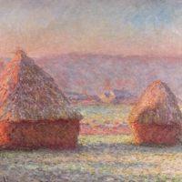 Claude Monet, Les Meules, effet de gelée blanche, 1889, huile sur toile, 65 × 92 cm, Farmington, Hill-Stead Museum